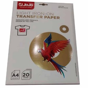 Papel Transfer Inkjet Light A4 150g (Tinta Pigmentada) (BA-1004) - Pack 20 folhas
