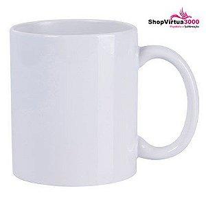 Caneca Cerâmica Branca ShopVirtua3000® Importada Classe +AAA 325ml Para Sublimação (TOP 01) - 36 Unidades