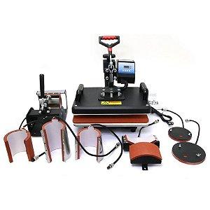 Prensa Térmica Combo 8 em 1 38x38cm - 110v ShopVirtua3000® (3352) (LiveSub) - 01 Unidade