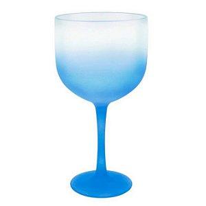 Taça Gin de Acrílico Degradê Azul Neon Para Transfer e Silk 600ml - 01 Unidade