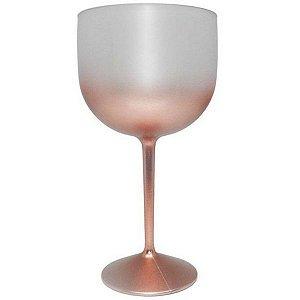 Taça Gin de Acrílico Degradê Rose Gold Para Transfer e Silk 600ml - 01 Unidade