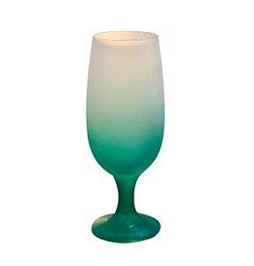 Taça de Vidro Jateado Degradê Verde Para Sublimação 330ml (3733) - 01 Unidade