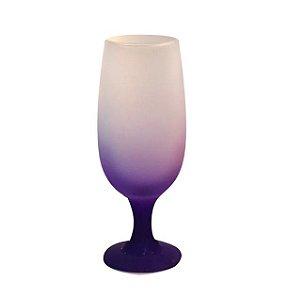 Taça de Vidro Jateado Degradê Violeta Para Sublimação 330ml (3673) - 01 Unidade