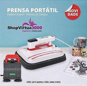 Prensa Térmica PORTÁTIL Combo 4 em 1 30x25cm - 220v ShopVirtua3000® (3371) (LiveSub) - 01 Unidade