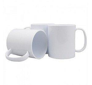 Caneca Branca Polímero 350ml P/sublimação Com Papel Sublimático, Transfer Laser, Silk Screen e Adesivação (S315) - 100 Unidades