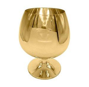 Taça de Vidro Cristal Sublimática Cromada Dourada Para Conhaque 635ml (Linha Elegance) (2704) - 01 Unidade