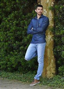 Camisa Jeans Masculina Slim