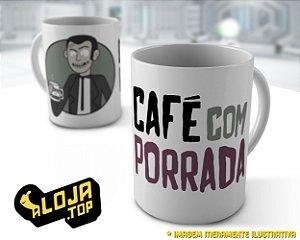 Caneca Café com Porrada