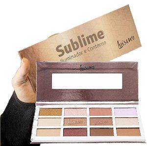Estojo de Maquiagem Sublime Iluminador e Contorno Luisance L7111 - Kit C/ 3 Unid