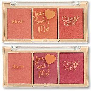 Trio de Blush You And Me City Girl CG212 - Display C/ 24 Unid