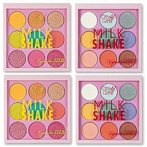 Paleta de Sombras Milk Shake City Girl CG242 A e B - 4 Unidades