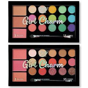 Paleta de Sombras e Blush Girl Charm City Girl CG249 - Display C/ 12 Unid