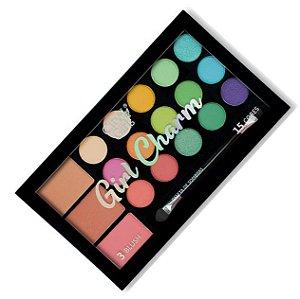 City Girl - Paleta de Sombras e Blush Girl Charm CG249 - Cor A