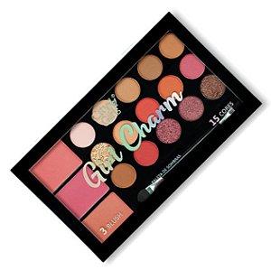 Paleta de Sombras e Blush Girl Charm City Girl CG249 - Cor B