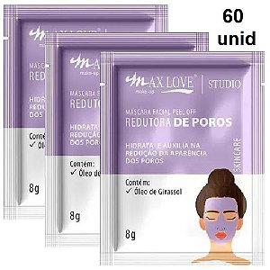 Mascara Facial Peel Off Redutor de Poros Max Love - Box C/ 60 Unid