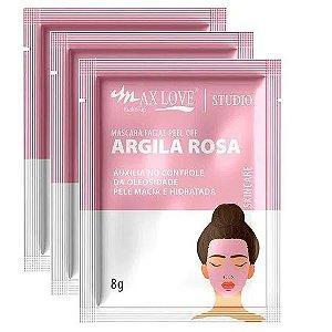 Max Love - Mascara Facial Argila Rosa Peel Of  - 5 unid