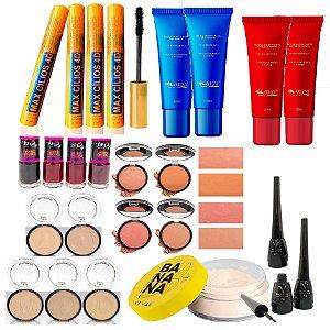 Kit para Revenda de Maquiagem 05 - 23 Itens