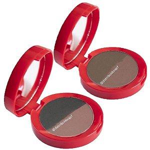 Nova Sombra para Sobrancelhas Duo com Espelho Max Love - 6 Unid ( 1 e 2 )