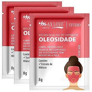 Máscara facial controle de oleosidade Sache Max Love - Kit C/ 5 Unid