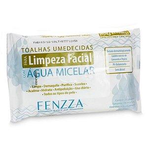 Fenzza - Toalhas Umedecidas para Limpeza Facial com Água Micelar  FZ51006 - 12 Unidades