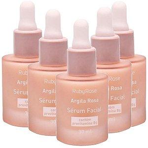 Ruby Rose - Sérum Facial  Argila Rosa HB319 - 6 Unidades