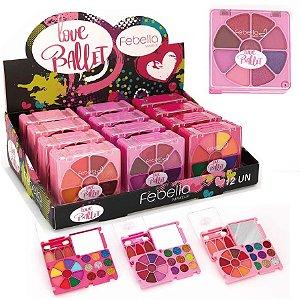 Kit de Maquiagem Teen Love Ballet Febella - Display C/ 12 Unid