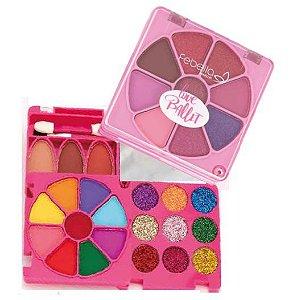 Kit de Maquiagem Teen Love Ballet Febella Cor 03 - Estojo Rosa Pink