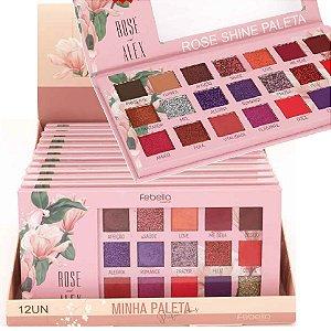 Febella - Paleta de Sombras Rose Shine  PSO30315 - Display C/ 12 Unid