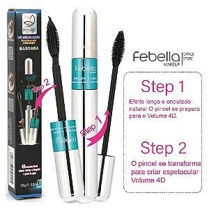 Febella- Mascara de Cilios 4D Prova Dagua 2 em 1