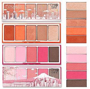 Paleta de Sombra City Girl Toronto e Tokio CGN007 - Display C/ 16 Unid