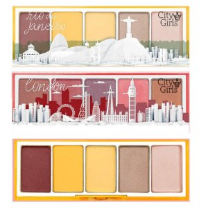 City Girls - Paleta de Sombra  Rio de Janeiro e London CGN008 - Display C/16 Unid