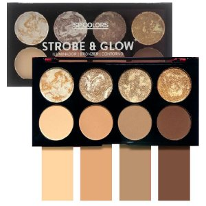 Paleta SP Color Strobe & Glow Iluminador, Contorno e Bronzer - Display C/ 12 unid