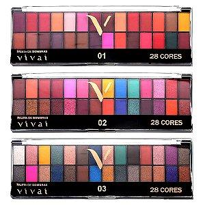 Vivai - Paleta de Sombras 28 Cores  2198 - Box com 12 Unid ( Sortidas )