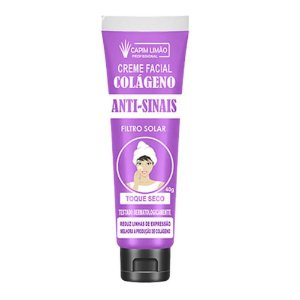 Creme Facial Anti-Sinais com Filtro Solar Capim Limão Bisnaga CP01