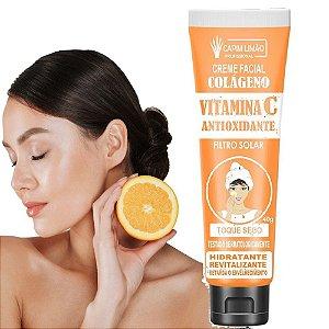 Creme Facial com Filtro Solar Vitamina C Capim Limão