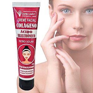 Capim Limão - Creme Facial Ácido Hialurônico e Filtro Solar