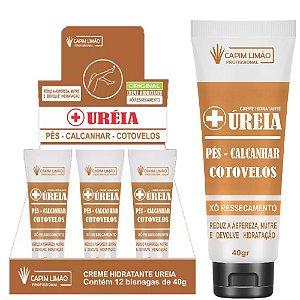 Capim Limao - Creme Hidratante Ureia Pés, Cotovelo, Mãos - 12 Unidades
