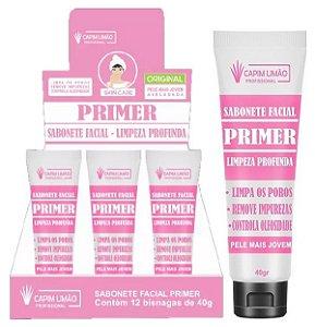 Sabonete Facial Primer Limpeza Profunda Capim Limão - 12 Unid