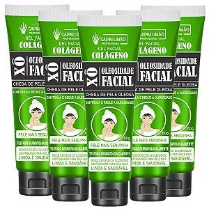 Gel Facial Xô Oleosidade + Colágeno Capim Limão - 12 Unid