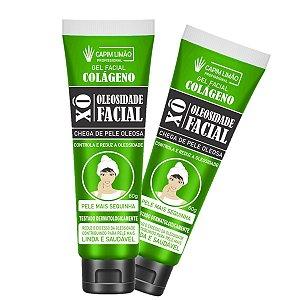 Gel Facial Xô Oleosidade + Colágeno Capim Limão