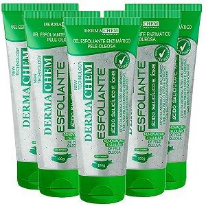 Gel Esfoliante Facial Acido Salicilico Pele Oleosa Dermachem (06179) - 06 Unid