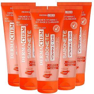 Sabonete Facial Anti-Idade Vitamina C Dermachem (06238) - 6 Unid