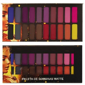 Ludurana - Paleta de Sombras Matte  20 Cores - Display C/12 Unid