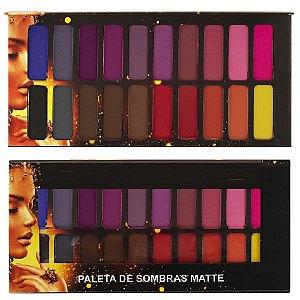 Paleta de Sombras Matte Ludurana 20 Cores - B00048
