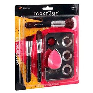 Macrilan - Kit Get Started ( Pincéis, Placa e Esponja ) KP10-1 - 4 Kits