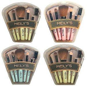 Meily's - Kit com 5 Pincéis para Maquiagem MKP112 - 12 Kits