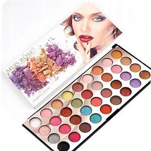 Miss Rose - Paleta de Sombras 36 Cores 3D - 3 Unid