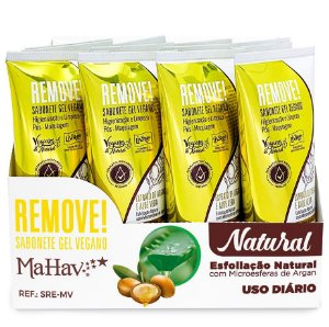 Mahav - Sabonete Gel Vegano Hidratante Pós Maquiagem - 12 Unid