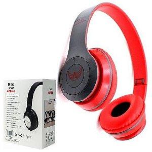 Importados - Fone De Ouvido Bluetooth Sem Fio Vermelho - Headphone