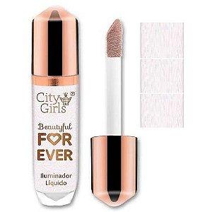 City Girl - Iluminador Líquido Forever Glow CG225 - Cor 01